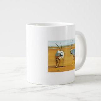 Circling Arabian Oryx 2010 20 Oz Large Ceramic Coffee Mug