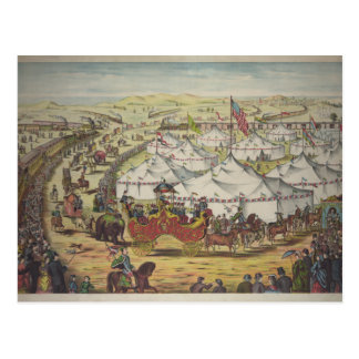 Circo, 1874 tarjeta postal