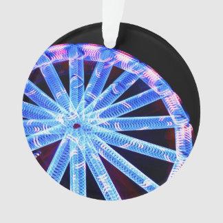 circo abstracto de neón del paseo del círculo favo