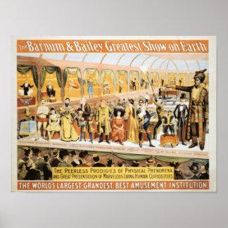 Circo Barnum y la demostración más grande de Póster