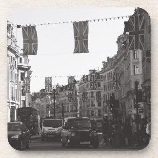 Circo blanco y negro de Londres Oxford de la foto Posavasos De Bebida