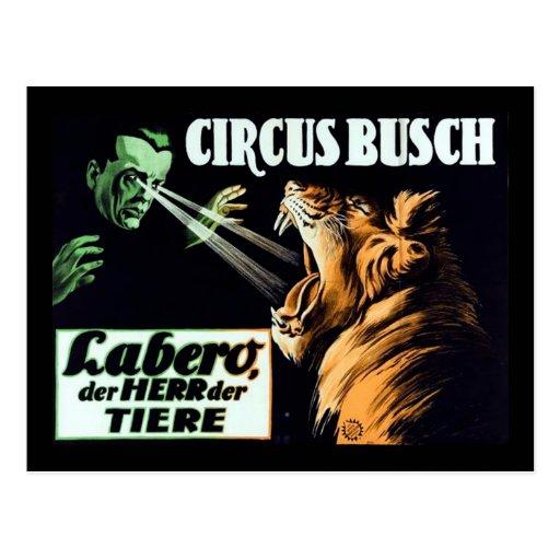 Circo Busch, Labero el Hypnotist Postal