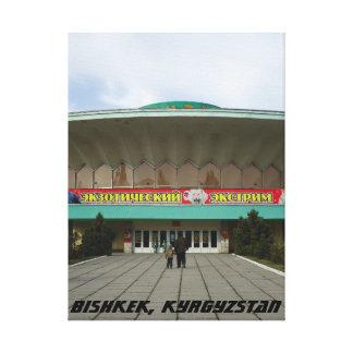 Circo comunista de la arquitectura, Bishkek Frunze Impresion En Lona