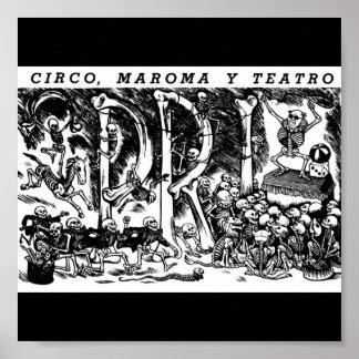 """""""Circo, cuerda, y teatro"""" C. México 1951 Póster"""