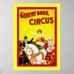Circo de Bros de la burguesía alta Póster