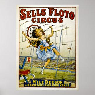 Circo de Floto de las ventas - cable de alta tensi Póster