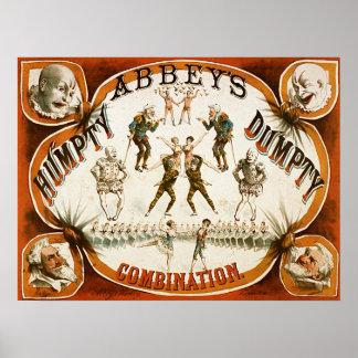 Circo de la combinación de Humpty Dumpty de la aba Poster