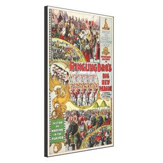 Circo de Ringling Bros - circa 1899 Impresiones De Lienzo