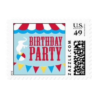 Circo del cumpleaños sello