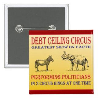 circo del techo de deuda pin cuadrado