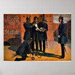 Circo del vintage: Houdini y el circo, 1908 Poster