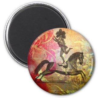 Circo del vintage imán redondo 5 cm