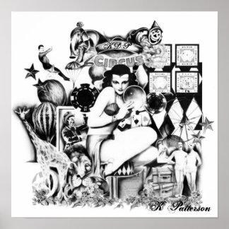 Circo del vintage póster