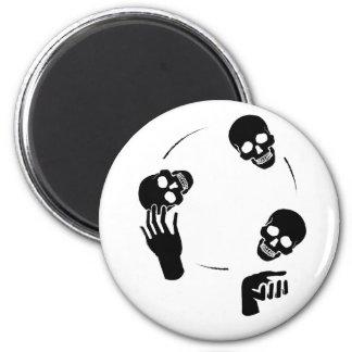 Circo esquelético de la diversión del juglar imán redondo 5 cm