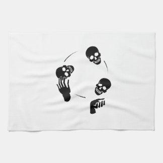 Circo esquelético de la diversión del juglar toallas de mano