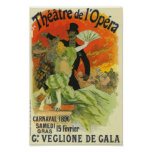 Circo francés del anuncio del Victorian Póster