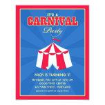 """Circo/invitación de la fiesta de cumpleaños del invitación 4.25"""" x 5.5"""""""
