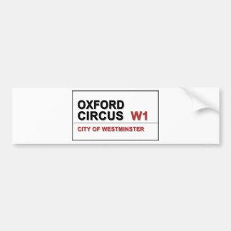Circo Lodon Inglaterra de Oxford Etiqueta De Parachoque