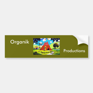 Circo-Logotipo, Organik, producciones Pegatina Para Auto