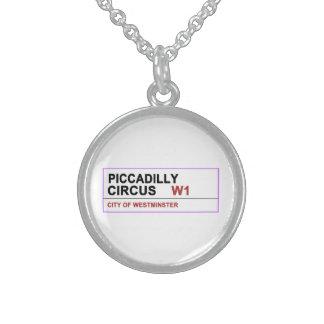 Circo Londres de Piccadilly Collares De Plata Esterlina
