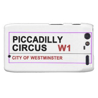 Circo Londres de Piccadilly Motorola Droid RAZR Fundas