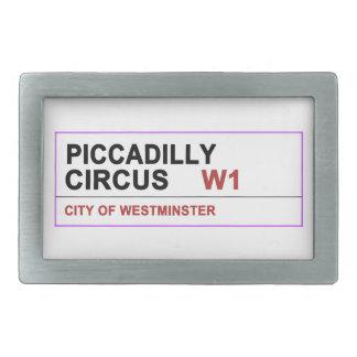 Circo Londres de Piccadilly Hebillas De Cinturon Rectangulares