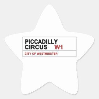 Circo Londres de Piccadilly Calcomanías Forma De Estrellas
