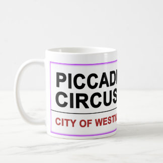 Circo Londres de Piccadilly Taza Básica Blanca