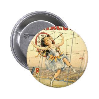 Circo M'lle Beeson de Floto de las ventas Pin Redondo 5 Cm