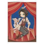 Circo - mono del circo de la fantasía del steampun tarjeta
