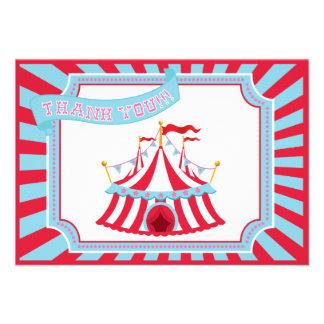 Circo o tienda del carnaval - gracias las tarjetas comunicado personal
