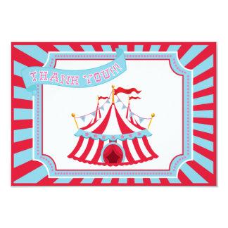 """Circo o tienda del carnaval - gracias las tarjetas invitación 3.5"""" x 5"""""""