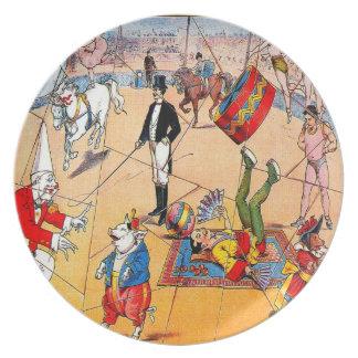 Circo - placa platos para fiestas
