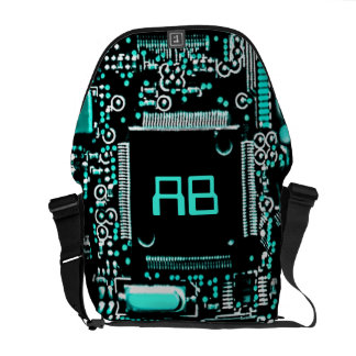 Circuit Aqua 2 monogram medium messenger bag