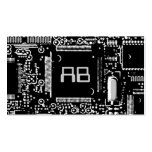 Circuit B & W 2 'monogram business card template