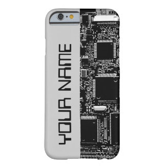 "Circuit B & W 2 ""Name"" iPhone 6 case side grey"