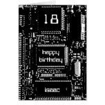 Circuit B&W 'Age and Name' birthday card