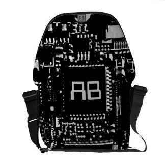 Circuit B & W monogram medium zero messenger bag