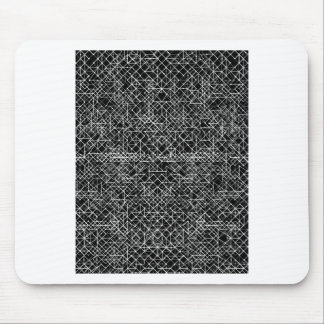 Circuit Black And White Mouse Pad