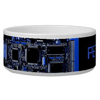 Circuit Blue 2 dog bowl