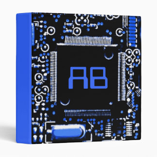 Circuit Blue 2 'Initials' binder blue