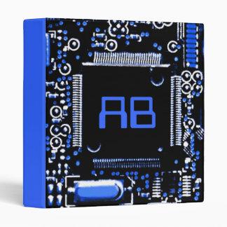 Circuit Blue 2 'Initials' binder blue