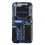 Circuit Blue 2 iPhone 6 'Name' barely there case Barely There iPhone 6 Case