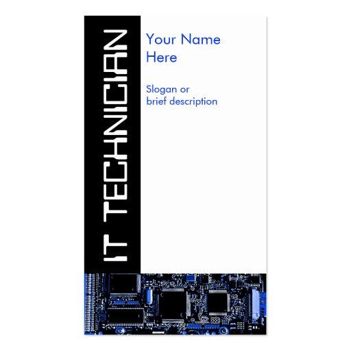 Circuit Blue 2 'IT Technician' business card