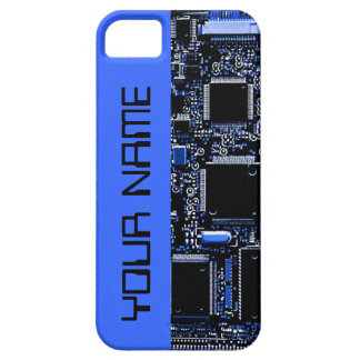 "Circuit Blue 2 ""Name"" iPhone 5 case side blue"