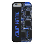 "Circuit Blue 2 ""Name"" iPhone 6 case side black"
