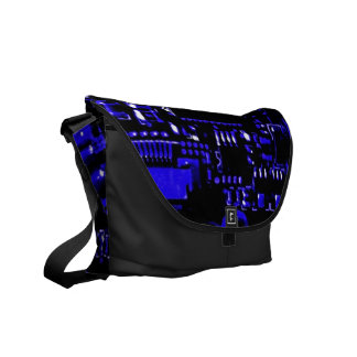 Circuit Blue medium zero messenger bag