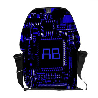 Circuit Blue monogram medium zero messenger bag