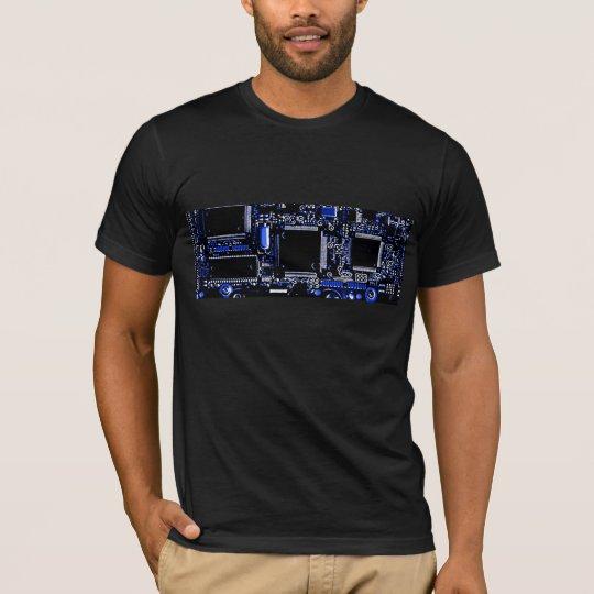 Circuit Blue  t-shirt black