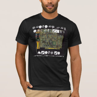 Circuit Board 1 Lateral Canvas Design T-Shirt